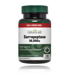 Serrapeptase 80.000iu 33% EXTRA FREE