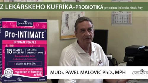 Probiotiká na podporu intímneho zdravia ženy - MUDr. Pavel Malovič Phd., MPH