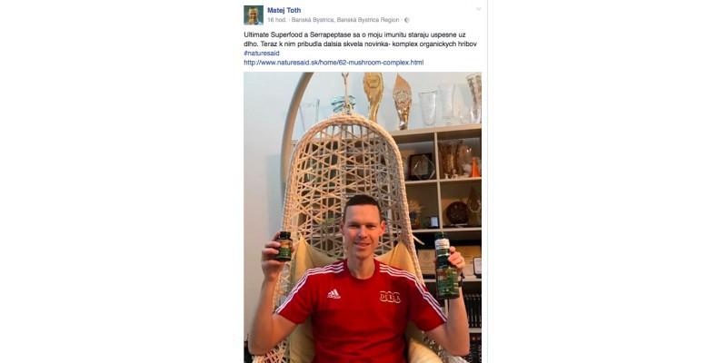 Matej Tóth už aj s novým Mushroom komplexom