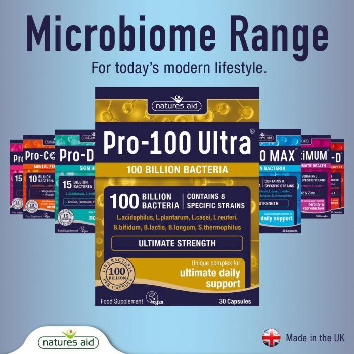 Probiotiká pre 100 nápravu črevnej mikroflóry po závažných infekciách od Natures Aid