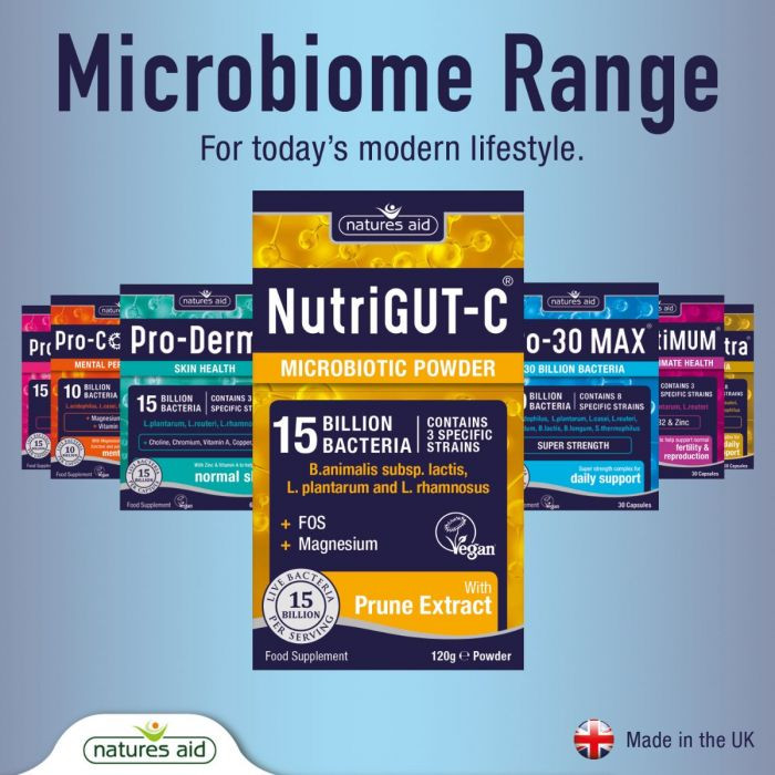 Probiotiká pri zápche, zlom trávení a vyprázdňovaní od Natures Aid